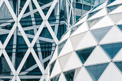 Modern architecture, made of glass and steel Royalty Free Stock Photos