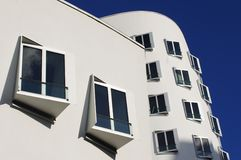 Modern architecture, Media Harbor in Dusseldorf Stock Photography