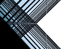 Modern architecture, minimal design and art. Urban Geometry, looking up to glass building. Modern architecture, glass and steel. Abstract architectural design stock photography