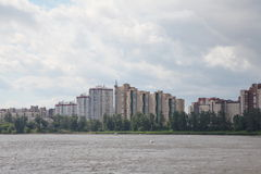 Modern architecture. modern residential quarters on the banks of the Neva river Stock Images