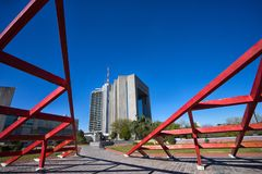 Modern architecture in Monterrey Mexico Royalty Free Stock Image
