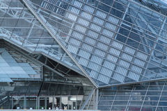 Modern architecture of Musee des Confluences Stock Image