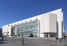 Modern architecture, Museum, MACBA-Museu Art Contemporani,contemporary art museum by architect  Richard Meier. Raval quarter, Barc Stock Photos