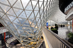 Modern architecture - MyZeil Mall, Frankfurt. Abstract architecture inside shopping center MyZeil, Frankfurt, Germany Stock Image