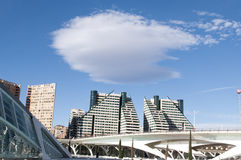 Modern architecture near the  City of Arts and Sciences, Valencia Royalty Free Stock Images