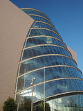 Modern architecture new glass curved angled  Convention Center Stock Image