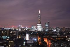 Modern Architecture in Southwark, London. Modern Architecture at night in Southwark, South London, UK royalty free stock photography