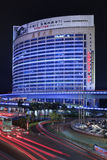 Modern architecture at night, Xiamen, China Royalty Free Stock Photo