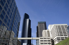 Modern architecture office building in Seattle stock photography