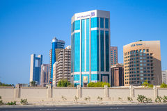 Modern architecture, office buildings of Manama, Bahrain Royalty Free Stock Image