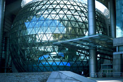 Modern architecture. Part of modern building wich has a form of spheres maded from the glass and steel Royalty Free Stock Photography