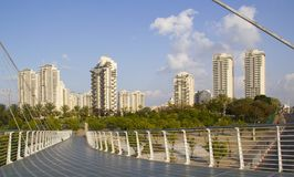 Modern Architecture. In Petach Tikwa, Israely industrial city Royalty Free Stock Images
