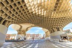 Modern architecture on Plaza de la Encarnacion Royalty Free Stock Images