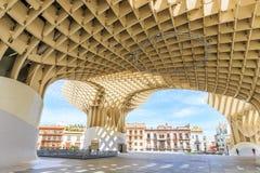 Modern architecture on Plaza de la Encarnacion Stock Photos