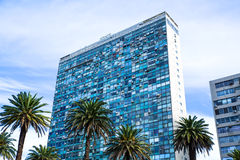 Modern Architecture on the Plaza Independencia in Montevideo Royalty Free Stock Image