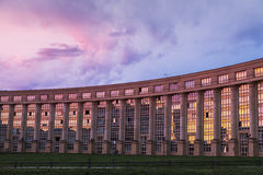 Modern architecture of Quartier Antigone Royalty Free Stock Photo
