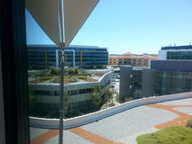 Modern architecture  reflection with roof top garden Fiona Stanley Hospital  Stock Image