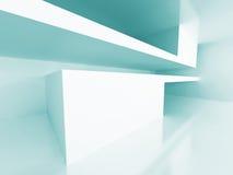 Modern Architecture Room Interior Design Background. 3d Render Illustration Royalty Free Stock Photos