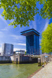 Modern architecture of Rotterdam city centre during a clear day, Royalty Free Stock Photography