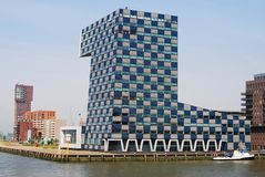Modern architecture in Rotterdam. Stock Photo