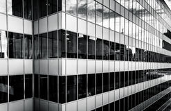 Modern architecture seen from a parking garage in downtown Balti Royalty Free Stock Photography