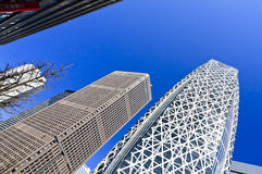 Modern architecture in Shinjuku, Japan Royalty Free Stock Images