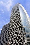 Modern architecture in Japan. Modern high rise business tower in Shinjuku district, Tokyo, Japan Royalty Free Stock Photo