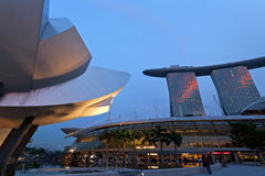 Modern architecture in Singapore Royalty Free Stock Photo