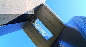 Modern architecture. Skewed perspective of a modern building Stock Photography