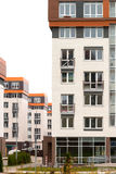 Modern architecture. Social housing. Nakhabino. Suburbs of Moscow Russia Royalty Free Stock Photography