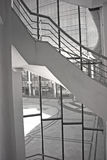 Modern architecture and staircase. Open courtyard   and staircase architecture Stock Photos