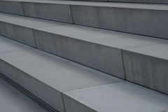 Modern Architecture Stairs out of concrete Stock Images