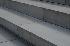 Modern Architecture Stairs out of concrete Royalty Free Stock Photography