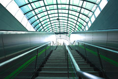 Modern architecture steps of escalator and stairs at export Royalty Free Stock Image
