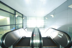 Modern architecture steps of moving business escalator and stair Royalty Free Stock Images