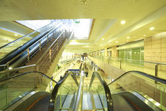 Modern architecture steps of moving business escalator and stair Stock Photography