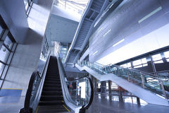 Modern architecture steps of moving business escalator and stair Royalty Free Stock Image