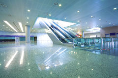 Modern architecture steps of moving business escalator and stair Stock Images