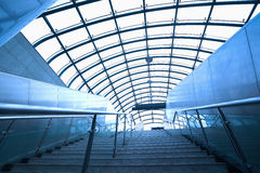 Modern architecture steps of moving business escalator and stair Royalty Free Stock Photography