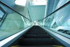 Modern architecture steps of moving business escalator Stock Photography
