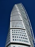 Modern architecture in the Swedish city Malmoe. A detail of the turning torso building in Malmo in Sweden Stock Image