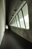 Modern architecture in Taiwan. Indoor corridor Royalty Free Stock Photography
