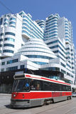 Modern architecture and tram Stock Photo