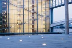 Modern architecture. Twilight illumination at the modern architecture structure in Berlin, Germany Stock Image
