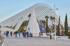 Modern Architecture and Umbracle Garden of City of Arts & Scienc Royalty Free Stock Photo