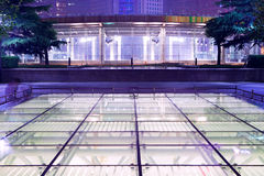 The modern architecture of the underground mall Stock Photos