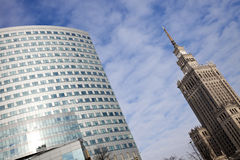 Modern architecture of Warsaw Royalty Free Stock Photo