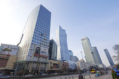 Modern architecture in Warsaw Stock Image