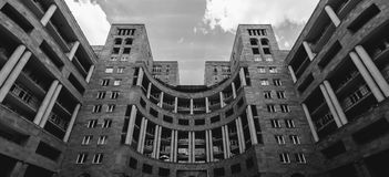 Modern architecture of Yerevan, Armenia. Horizontal shot Royalty Free Stock Photo