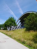 Modern architecture. Zentrum Paul Klee, the modern architecture in summer sky Stock Photography